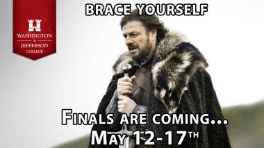 Finals coming